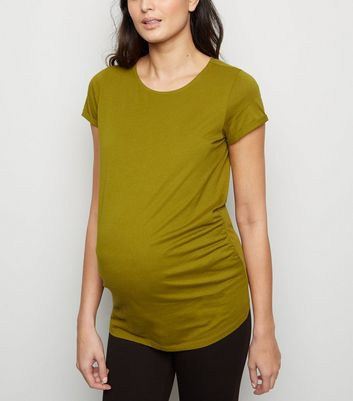 Maternity Olive Short Sleeve T-Shirt