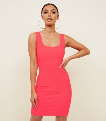 Pink Neon Bodycon Dress