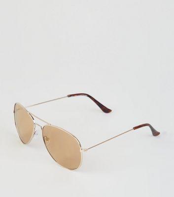 Gold Pilot Sunglasses  3a11c5822c7