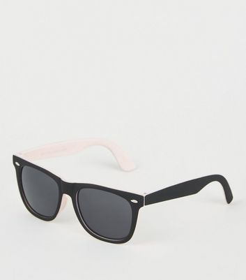 Pink Matte Square Sunglasses