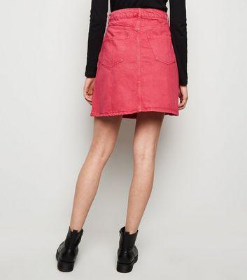 Noisy May Bright Pink Denim Skirt New Look