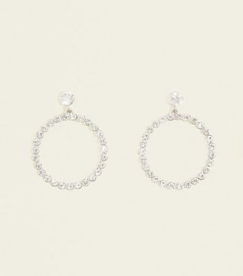 Crystal Diamanté Hoop Earrings