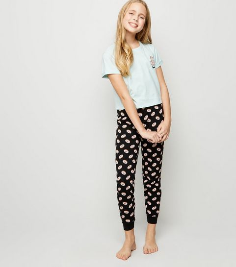 ... Girls Blue Dog Doughnut Slogan Pyjama Set ... c91feb9fb1