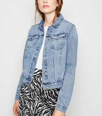 Blue Bleach Wash Denim Jacket