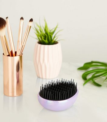 Lilac Iridescent Dome Hairbrush