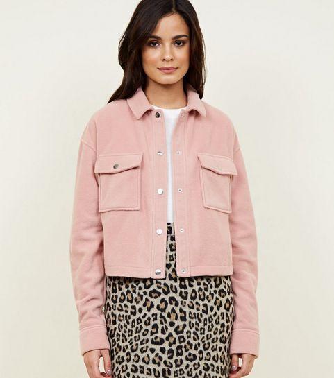 19c64f48b08 Pink Fleece Utility Jacket · Pink Fleece Utility Jacket ...