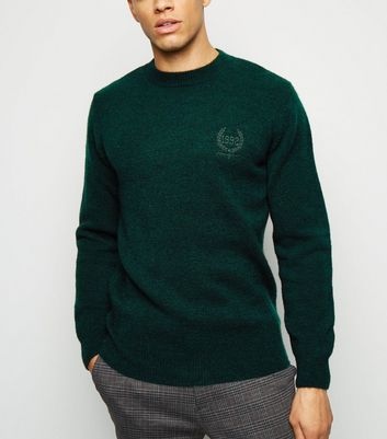 Teal 1992 Embroidered Textured Jumper
