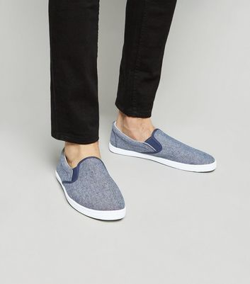 Tennis Slip On bleu marine