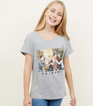 Girls Grey Friends Photographic T-Shirt