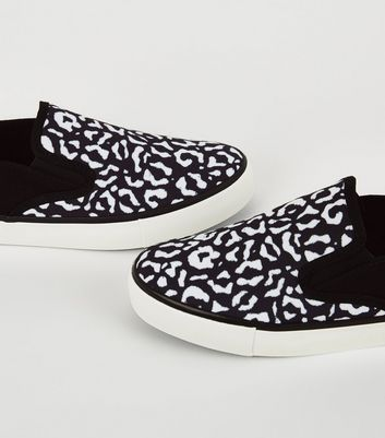 new look leopard trainers