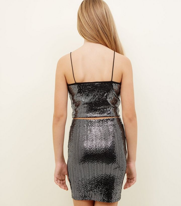 84896022a61e ... Girls Black Mirrored Sequin Cami. ×. ×. ×. Shop the look
