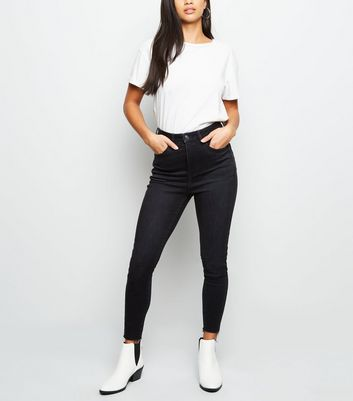 Petite Black High Rise 'Lift & Shape' Skinny Jeans