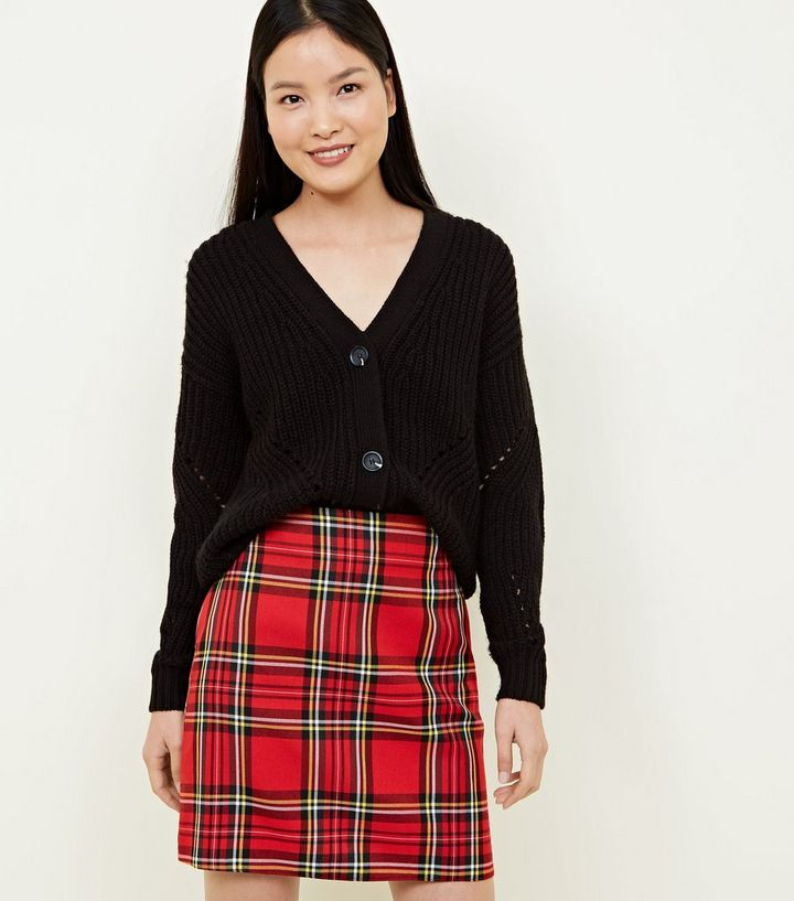 0f8cab6ab Red Tartan A-Line Mini Skirt | New Look