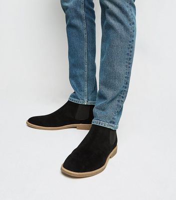 Black Suedette Chelsea Boots | New Look