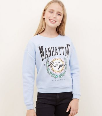 Girls Pale Blue Manhattan Sweatshirt