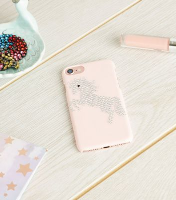 Pink Unicorn Diamanté iPhone 6/6s/7/8 Case