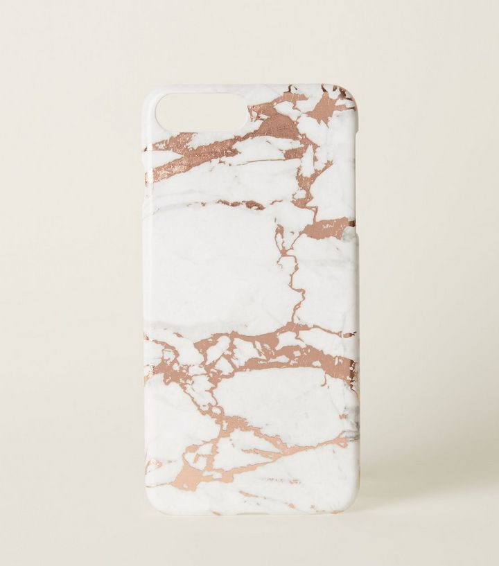 promo code f63c3 78eb4 Rose Gold Marble Effect Case for iPhone 6+/6s+/7+/8+ Add to Saved Items  Remove from Saved Items