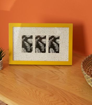 Mustard Speckled Multi Photo Frame