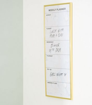 White Marble Effect Weekly Planner