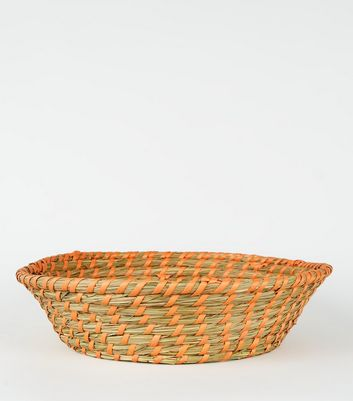 Orange Woven Bowl