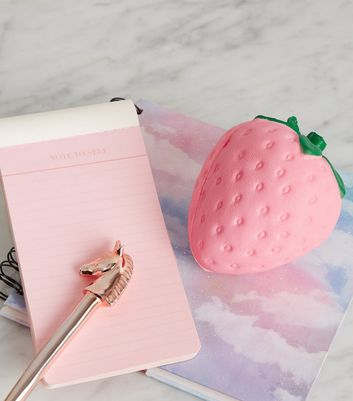 Pink Strawberry Stress Ball