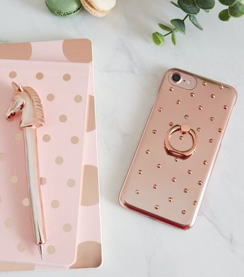 Rose Gold Gem Ring Holder iPhone 6/6s/7/8 Case