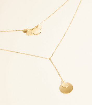 WANTED Gold Layered Disc Pendant Necklace