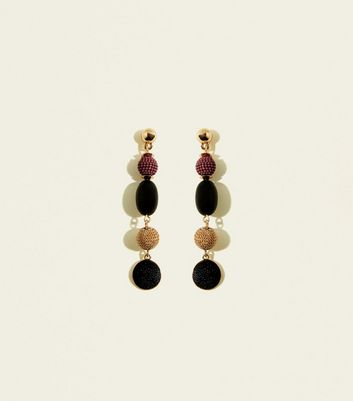 WANTED Multicoloured Mixed Orb Drop Earrings