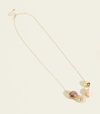 WANTED Gold Mixed Orb Necklace