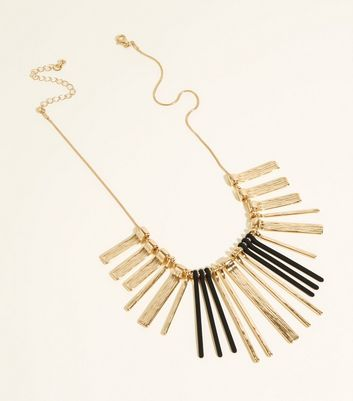 WANTED Gold Contrast Bar Collar Necklace