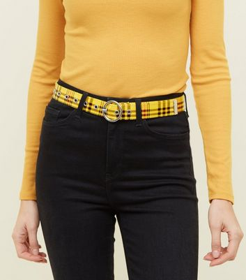 Yellow Check Transparent Circle Belt