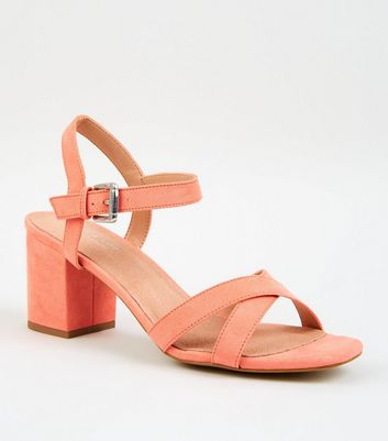Coral Comfort Flex Low Block Heel Sandals