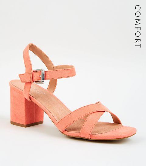 f623067aaf46 ... Coral Comfort Flex Low Block Heel Sandals ...