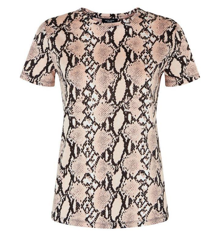 52967bd09 Petite Pink Snake Print T-Shirt   New Look