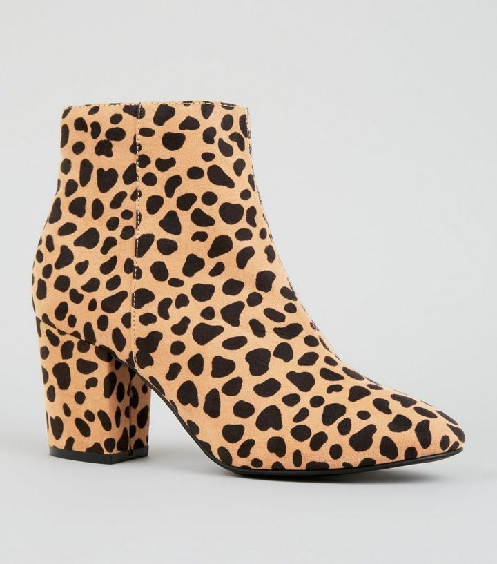 03f7109d45b4 Brown Leopard Print Mid Block Heel Ankle Boots | New Look