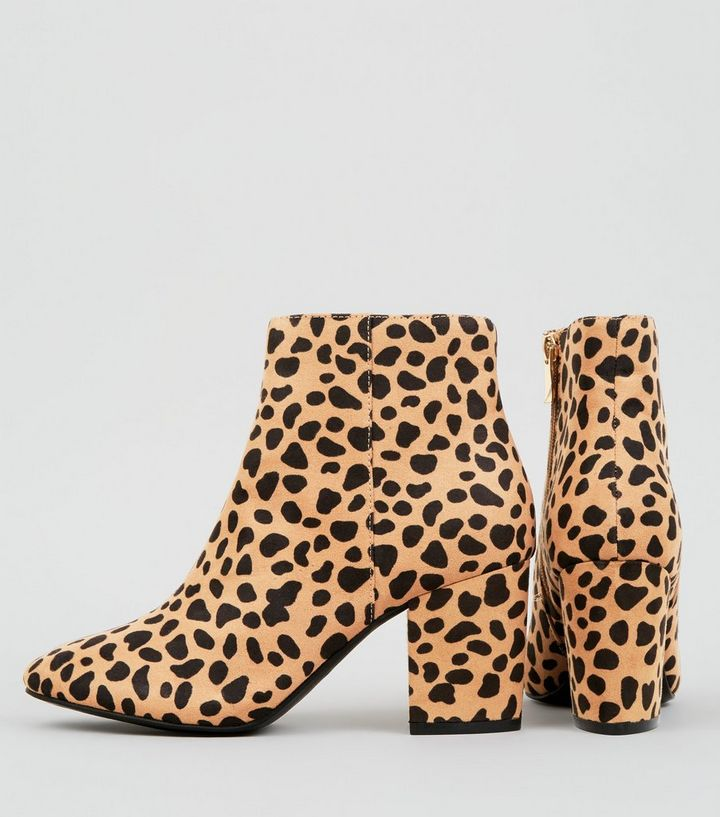 e010731da2 Home · Women's Clothes · Shoes & Boots · Boots · Brown Leopard Print Mid  Block Heel Ankle Boots. ×. ×. ×. Shop the look