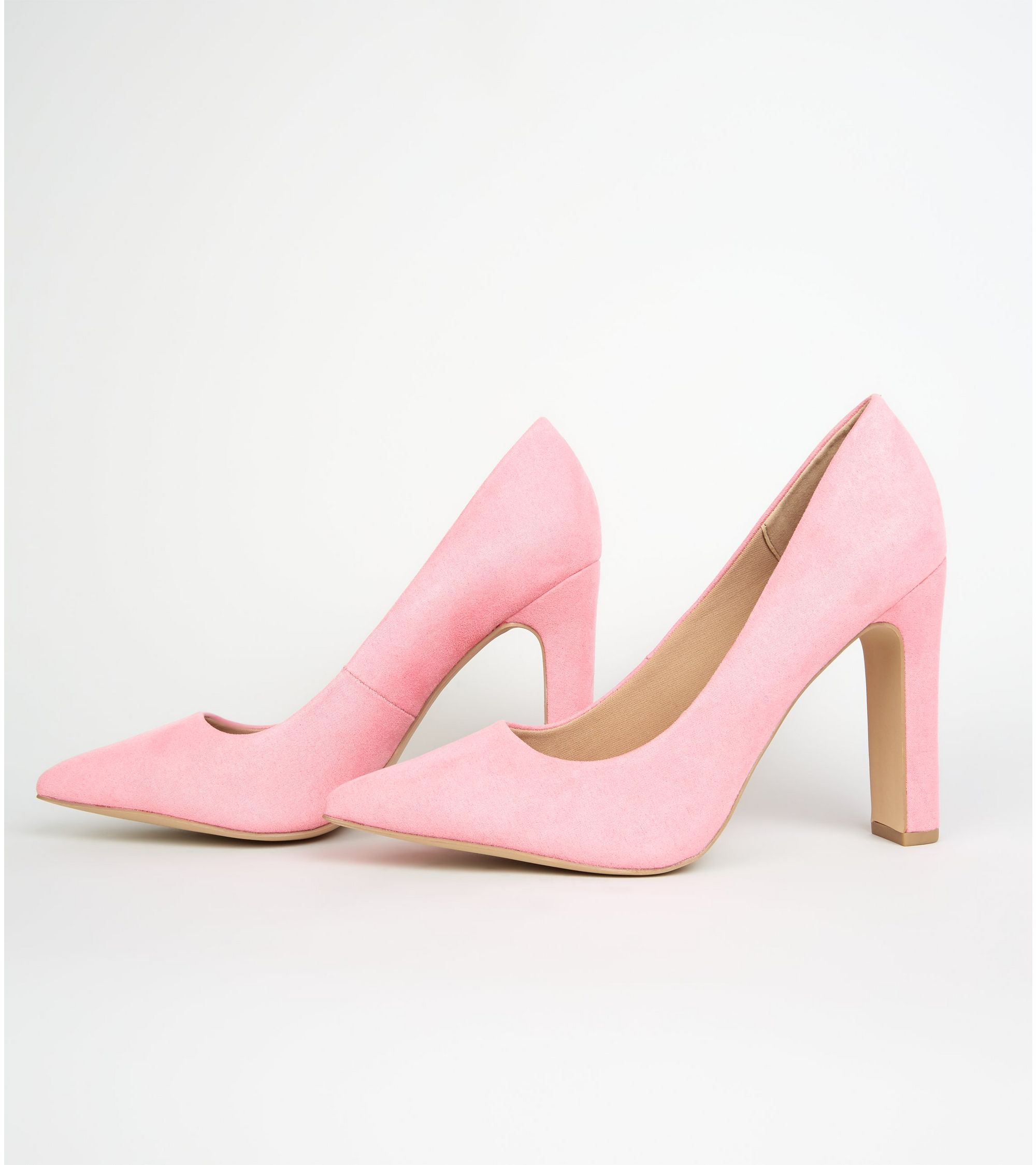 694e8d2ed85 New Look wide fit suedette slim block heel courts at £19.99