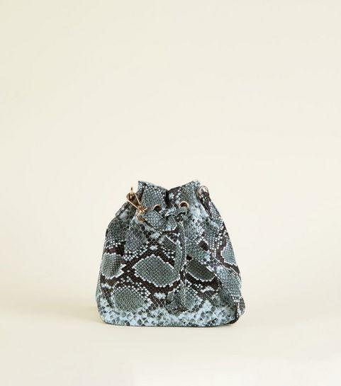 7d0f621a51c7 ... Dark Grey Faux Snake Mini Duffle Bag ...