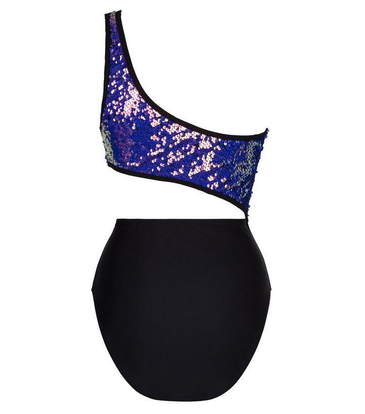 14eb6c3c86 ... Purple Sequin One Shoulder Cut Out Swimsuit. ×. ×. ×. Shop the look