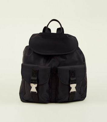 Black Clip Double Pocket Utility Backpack