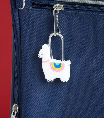 White Llama Travel Padlock and Keys