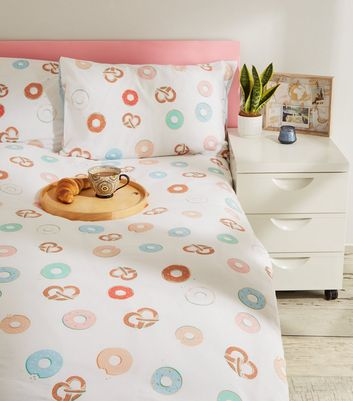 Multicoloured Doughnut Cotton Single Duvet Set