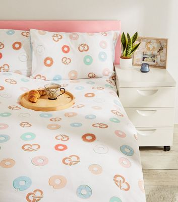 Multicoloured Doughnut Cotton Double Duvet Set