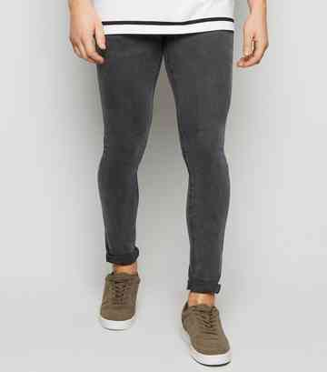 Black Washed Super Skinny Jeans