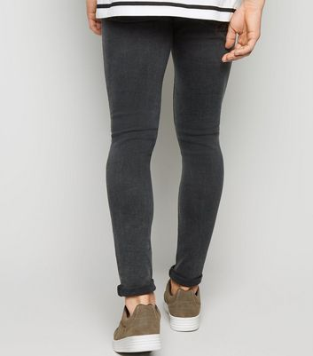 Black Washed Super Skinny Jeans Add to Saved Items Remove from Saved Items
