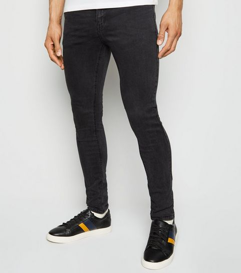 99f7c7b76c0 ... Black Washed Skinny Stretch Jeans ...