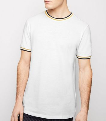 Black Tipped Pique T-Shirt