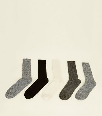 5 Pack Multi Colour Cotton Stretch Socks