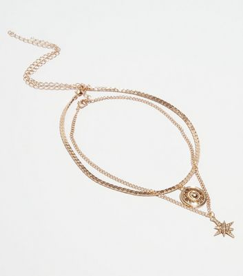 2 Pack Gold Celestial Choker Necklaces