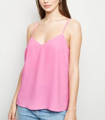 Mid Pink Cross Back Cami